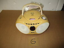 Barbie portable compact CD player, AM/FM radio with microphone--model BE-652