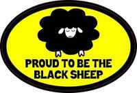 3in X 2in Proud Black Sheep Sticker Vinyl Humor Decals Car Window Sticker Decal