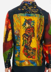 "ROBERT GRAHAM Mens Nwt Limited Editiion Shirt ""Japonaiserie"" SILK Large Rts $498"