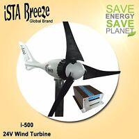 SET 12V/i-500Plus WINDGENERATOR + HYBRID LADEREGLER, BLACK EDITION, iSTA-BREEZE®