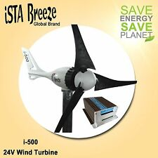SET 12V/i-500Plus WINDGENERATOR + HYBRID LADEREGLER, BLACK EDITION, iSTA-BREEZE®