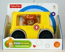 """Brand new Fisher Price Little People SOFIE & SCHOOL BUS - 5"""" Long (bx16)"""