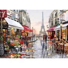 DIY Paris Flower Street Landscape Diamond Painting Cross Stitch Craft Decor