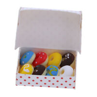 1/12 Scale Dolls House Miniature Kitchen Bakery Donuts Box Table Decoration