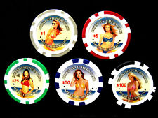 d BIKINI WATCHERS CLUB SAMPLE SET 5 CHIPS (#1281) 10.6