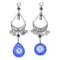Turkish Blue Glass Evil Eye Amulet Wall Hanging Home Decor Lucky Protection AU