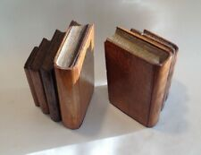 A Vintage pair of Solid Oak Wooden Bookends ~ Art Deco