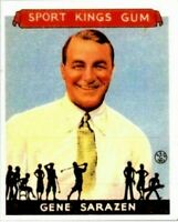 GENE SARACEN 1933 GOUDEY SPORT KINGS REPRINT GOLF CARD #22! CAREER GRAND SLAM!