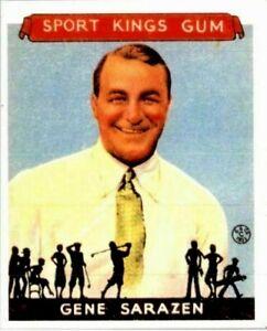 Gene Saracen 1933 Goudey Sport Kings Réimpression Golf Carte #22 ! Carrière