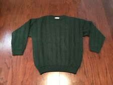 SERIOUS GOLF IRELAND GREEN CABLE KNIT LINED WINDSTOPPER PULLOVER SWEATER XL