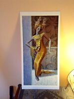 ORIGINAL RARE Tretchikoff Balinese Dancer 1960s - Vintage Kitsch Art Print