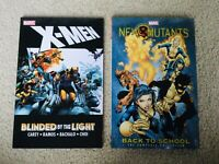 RARE X-Men TPB Lot Blinded by the Light & New Mutants Back to School OOP Omnibus