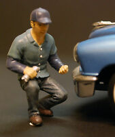 77727 American Diorama Werkstatt Crew, Mechaniker Schrauber  Lucas, 1:24