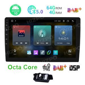 """10.1"""" 4GB 64GB Android 10 Autoradio 8-Kern Doppel 2 DIN GPS Navi USB DAB+ 4G LTE"""