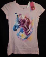 Twirl Size 12 Zebra Head Short Sleeve T-shirt Pink NWT
