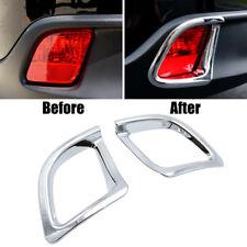 Fit For Toyota Kluger 2014- Chrome Rear Bumper Fog Light Lamp Cover Trim Garnish