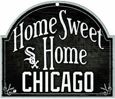 """Chicago White Sox Wood Sign Home Sweet Home 10"""" x 11"""" 4899"""
