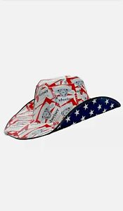 Budweiser Cowboy Cowgirl Hat Beer Box OSFM 2021 Anheuser Busch NEW Free Shipping