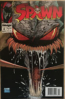 Image Comics Spawn #4 Newsstand Variant 1992 Todd McFarlane Comic Book