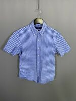 RALPH LAUREN SHORT SLEEVE Shirt - Size Small - Check - Great Condition - Men's