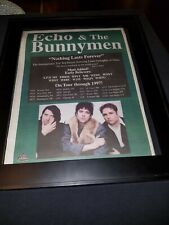 Echo And The Bunnymen Nothing Lasts Forever Rare Radio Promo Poster Ad Framed!