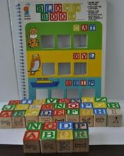 Tuffy Book and Blocks - Alphabet Wooden Abc & Numbers Blocks 1989
