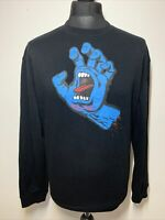 Santa Cruz Screaming Blue Hand Black Jumper Sweater Pullover XL VGC