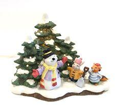 Fitz and Floyd 'World's Best Snowman' Holiday Hamlet Lighted 1994 IOB