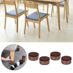 4 Pieces Multifunction Round Bed Risers Cabinet Sofa Feet Protector for Home