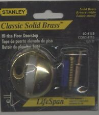 STANLEY CLASSIC SOLID BRASS HI-RISE DOOR STOP 80-4115