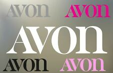 "TWO  8"" AVON cosmetic decals new vinyl Decal sticker any nonporous surface S466"