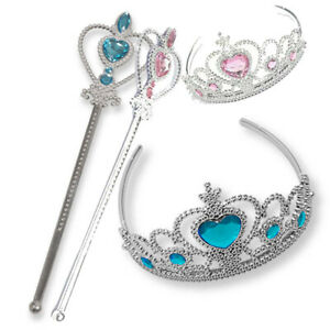 2 Pieces Kids  Girls Inspired Crown Magic Wand Set Accessories