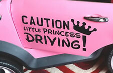 LITTLE PRINCESS DRIVING sticker for kids AUDI, MINI etc - by number plate maker