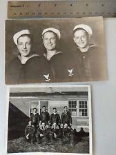 1942 & 1943 men in service photograph 2 pictures authentic original B&W war pics