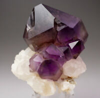 AMAZING ! GEM SMOKY SCEPTER AMETHYST CRYSTAL W/ BUBBLES - FROM BRANDBERG,NAMIBIA