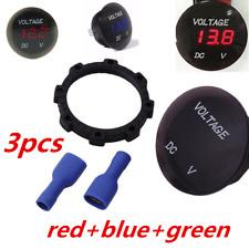 Red/Blue/Green LED Panel Digital Voltage Meter Display Voltmeter Motorcycle Car