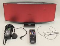 SONY Red Micro Hi-Fi Component System CMT-V75BTiP With iPhone/iPod/iPad Dock