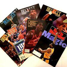 Lot 7 + 1 Beckett Basketball Magazines 1991 Jabbar Magic Malone Jordan Drexler