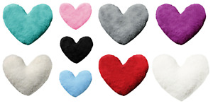 Soft Heart Shape Cushions Fluffy Teddy Pillow