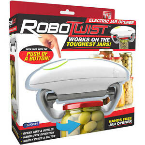 Robotwist Automatic Grip Hands Free Electric Jar Opener with Easy Touch Button