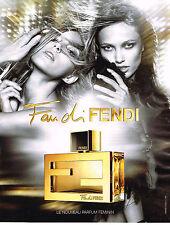 Publicité advertising  2010   FENDI  parfum féminin  FANDI