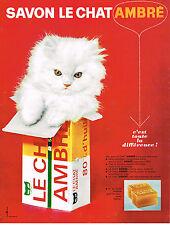 PUBLICITE ADVERTISING 034   1963   LE CHAT AMBRE   savon