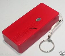 Power Bank 5600mAh With Flashlight For Nokia Oppo Sony LG Camera Tab Phone(Red)