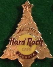 "Hard Rock Cafe JAKARTA 1995 CHRISTMAS PIN Gold Tree ""95"" Star Top HRC Logo #3803"