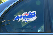 1x '5 Star Home' Australian Made Car Sticker Decal Souvenir Southern Cross Flag