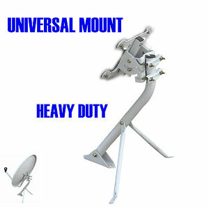 Universal Heavy Duty Mount For Satellite Dish Tripod Stand Roof And Wall Mount