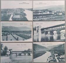 Veneto - Vicenza. BASSANO. Insieme di 6 interessanti cartoline. Circa 1917