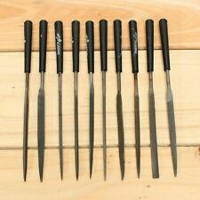 10pc Precision Steel Needle File Set Jewelers Metal Glass Hobby Tool