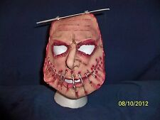 Adult Serial Killer Scary Mouth Sewn Latex Mask Costume Dress TB26049