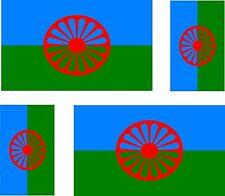 4x romania romani flag gipsy gypsies roma  decals sticker bike car vinyl bike